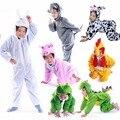 Дети Животных Onesie Животных Костюм Свинья Лягушка Петух Ролевая Игра Динозавров Костюм Bunny Costume Fancy Dress Party Хэллоуин Костюмы