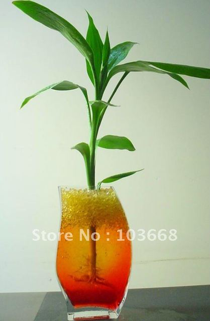 Colorful crystal putty for indoor planting