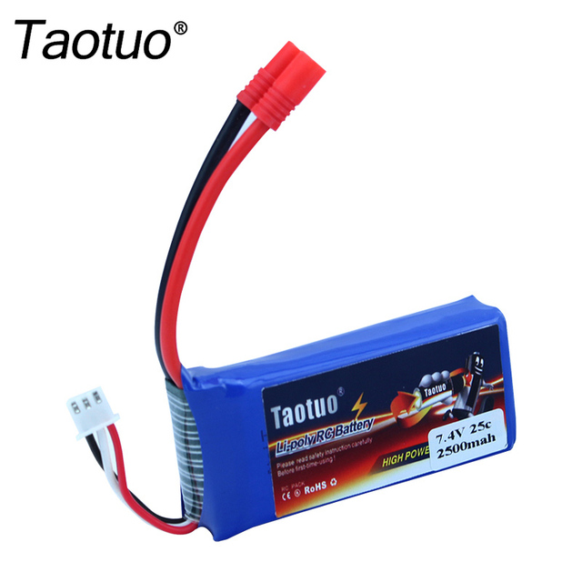 Taotuo Power Lipo Battery 7.4v 2500mah 25C For Syma X8C/X8W/X8G RC Helicopter Airplane Boat HQ899 Drone Bateria