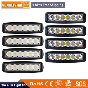 18Watts 6inch Flood Spot LED Work Light mini Bar Driving Fog Lamp Offroad SUV 4WD Car Boat for Motorcycle Tractor Auto x8pcs