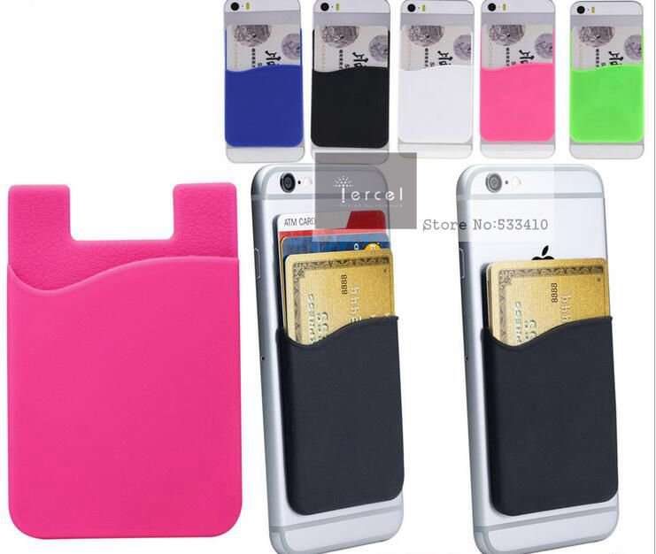 sale retailer 9d91e a8aa8 US $365.0 |450 Custom Made Silicone Mobile Phone 3m Sticker Smart Wallet  for Mobile Phones+ free shipping by FEDEX -in Wallet Cases from Cellphones  & ...