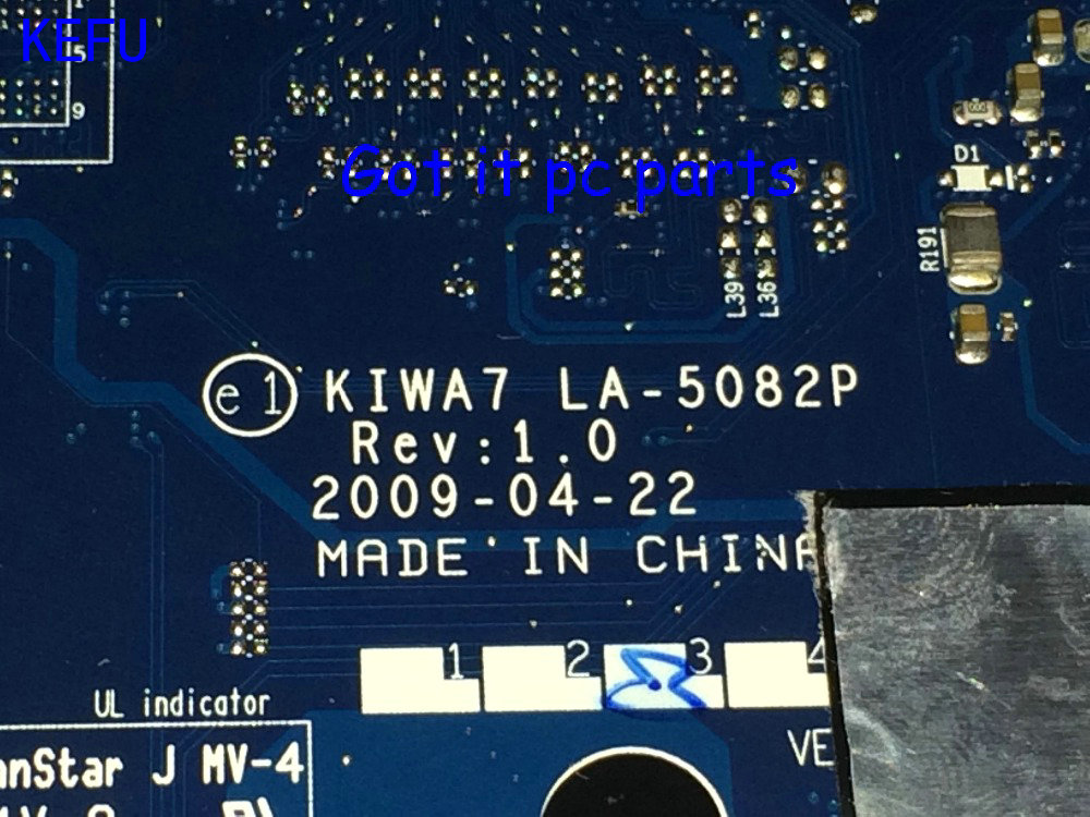 KEFU New !!! FREE SHIPPING Laptop motherboard KIWA7 LA-5082P REV : 1.0  Suitable for Lenovo  G550 Notebook pc  COMPARE PLEASE kefu hot in russia la 5752p free shipping new laptop motherboard for lenovo g560 notebook pc video chip n11m ge1 s b1 no hdmi