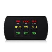 AU P12 Automobile GPS HUD Speedometer Digital Heads Up Display Car Speed Warning