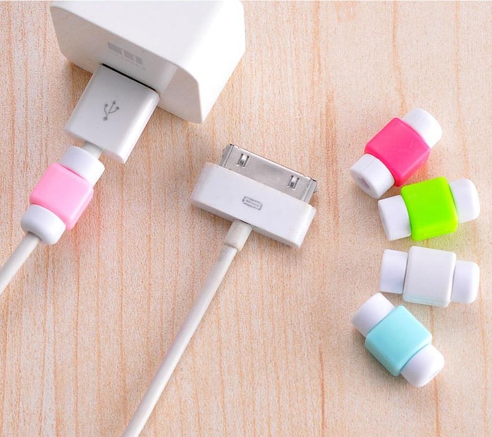 50pcs Mini <font><b>Charger</b></font> Wire <font><b>Protector</b></font> <font><b>Cable</b></font> Protective Case Line Cord Cover <font><b>Cable</b></font> Winder Cover For iPhone USB Charging <font><b>Cable</b></font>