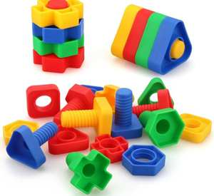 Building-Blocks Toys Screw Educational-Toys Plastic Children for Scale-Models Nut-Shape