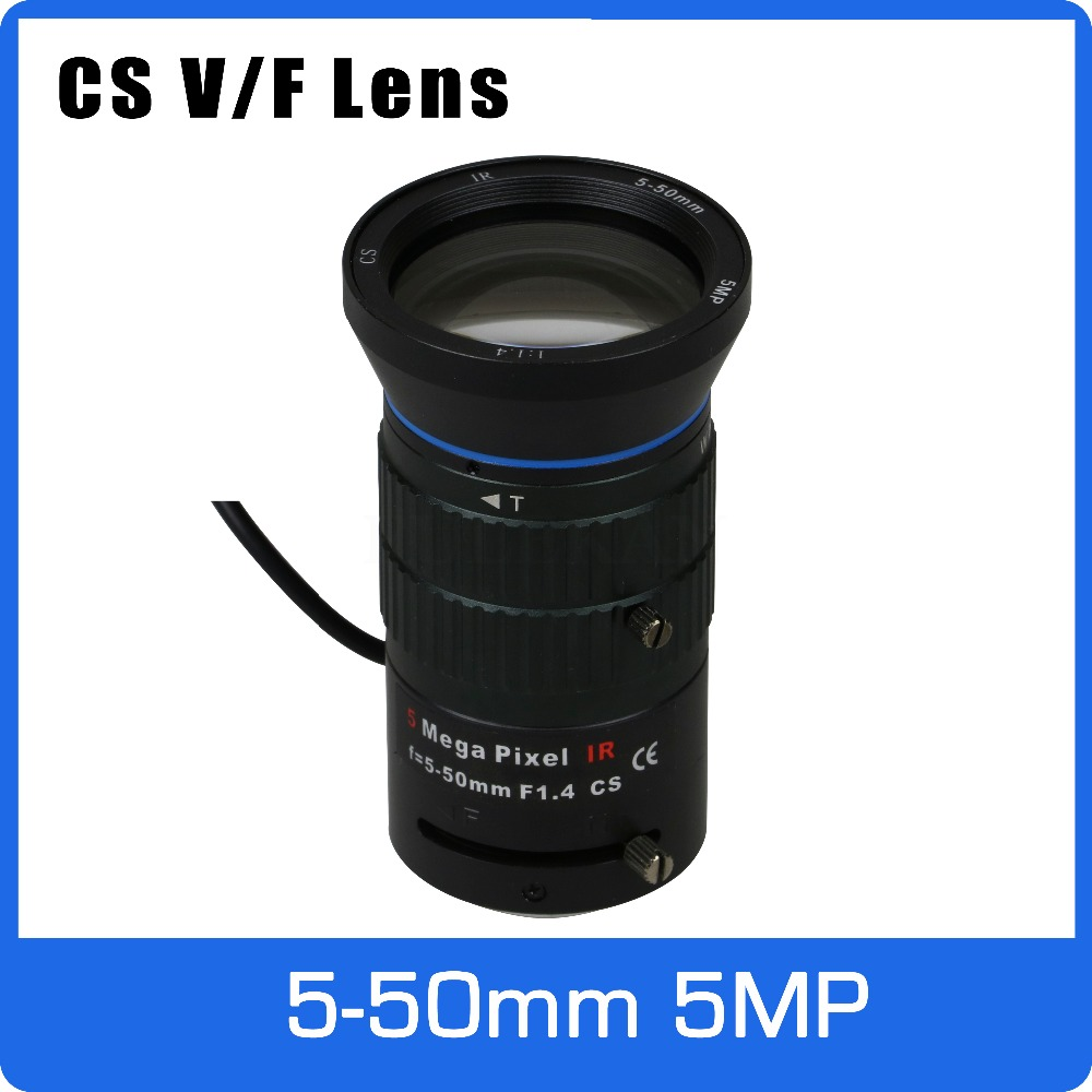 5Megapixel Varifocal CCTV Lens 5-50mm CS Mount Long Distance DC IRIS For IMX326/1080P/5MP Box Camera/IP Camera Free Shipping 3megapixel varifocal cctv lens 5 50mm cs mount long distance dc iris for 720p 1080p box camera ip camera free shipping