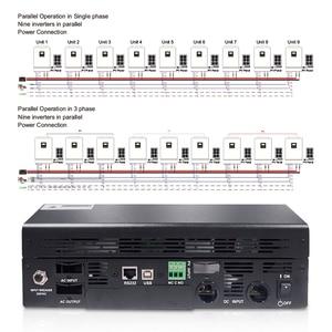 Image 4 - 5000W Solar Inverter 80A MPPT Off Grid Inverter 48V 220V Hybrid Inverter Pure Sine Wave Inverter 60A Battery Charger