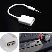 Aux кабель аудио разъем 3,5 мм Jack мужчин и женщин автомобиля адаптер штепсель-Переходник USB 2,0