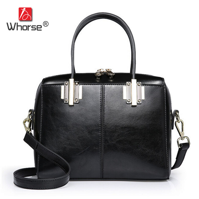 [WHORSE] Famous Brand Genuine Leather Handbag Women Cowhide Handbags Casual Tote Crossbody Messenger Bags High quality W08640 [whorse] brand luxury fashion designer genuine leather bucket bag women real cowhide handbag messenger bags casual tote w07190