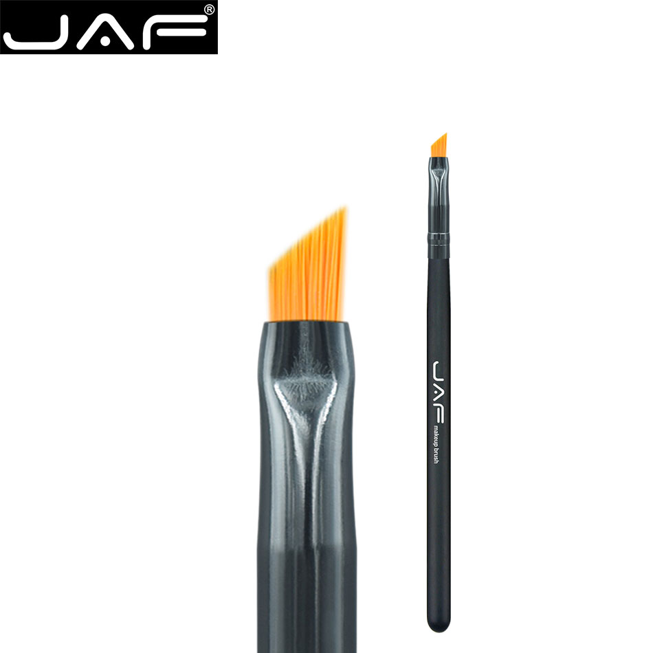 JAF Angled Eyebrow Brush Synthetic Taklon Hair Gel Eyeliner Brush Brand Make Up Eye Liner Brush Bevel Brush for Eye Brow 03SHA hengfang 52135 princess style water resistant eyeliner gel w brush black