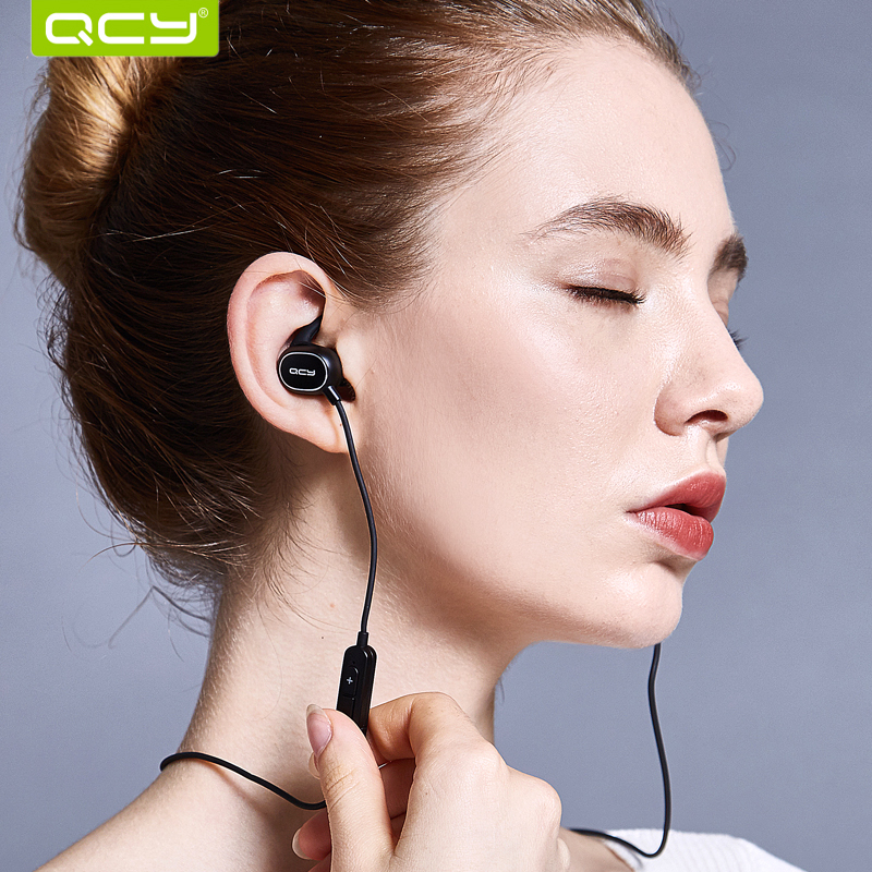 QCY  IPX4-rated sweatproof earphones CSR bluetooth 4.1 headset wireless sports earbuds