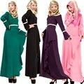 Абая турецкий мусульманин платье женская одежда джилбаба исламские abayas vestidos longos одежда дубай кафтан мусульманского лонго giyim розовый