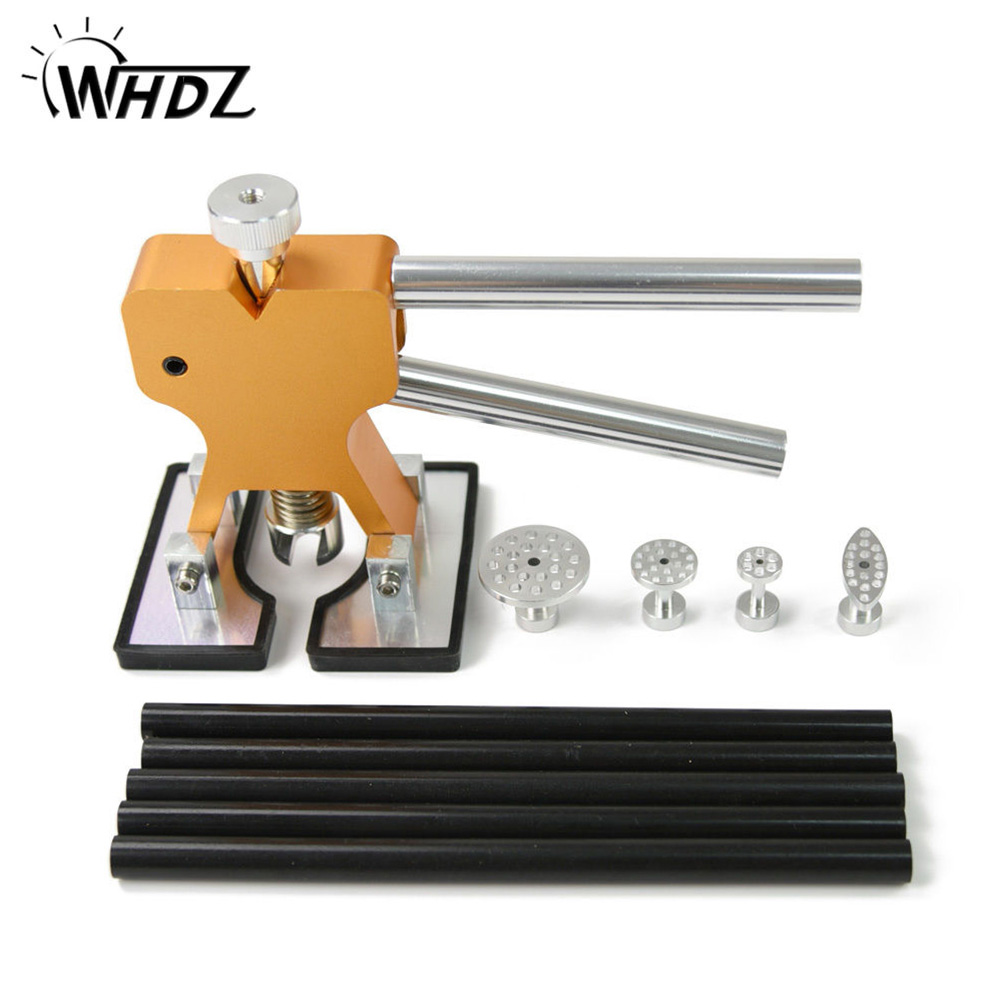 WHDZ PDR Tools Glue Puller Hand Lifter Paintless Dent Repair Tools Set PDR Golden Dent Lifter Hail Repair Dent Removal PDR Tools removal glue dent dent tools paintless pdr lifter hail puller car repair