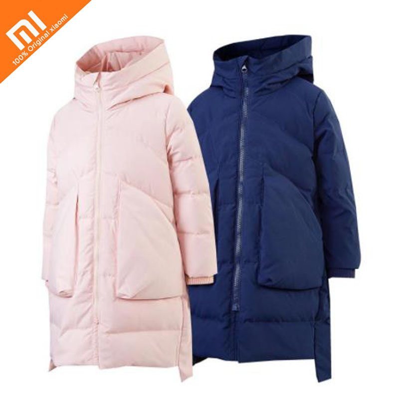 New original xiaomi mijia children's big pocket 95% goose down long down jacket boys girls winter jacket children down jacket columbia big boys lightning lift jacket