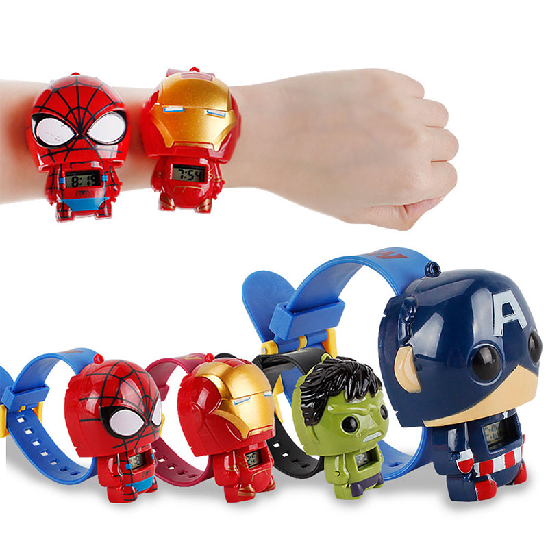 2019 Hot Surprise Avengers 3 Infinite War Thanos Captain America Action Figure Iron Man Spider Man PVC Model Toy Watch Free ship in Action Toy Figures from Toys Hobbies