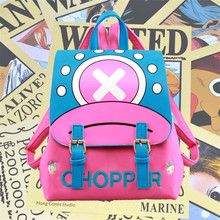 Японии аниме One Piece Чоппер Олень Дизайнер мультфильм женские из искусственной кожи для девочек Школа Книга сумка рюкзак подарок