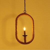 Retro Vintage Rope Hanglamp Lamp Loft Creatieve Persoonlijkheid Industriële Lamp Edison Lamp Amerikaanse Stijl Voor Woonkamer