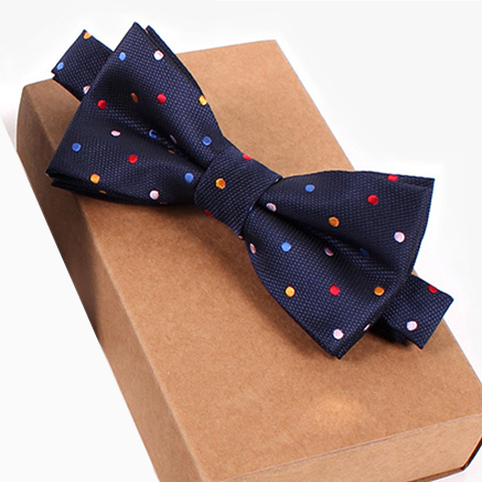 Navy Blue Bow Tie Polka Dot Pink Blue Yellow Red Wedding Formal Prom