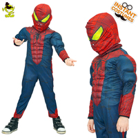 Boy's Muscle Spiderman Costumes Role Play Halloween Party Cosplay Marvel Iron Spider Costume