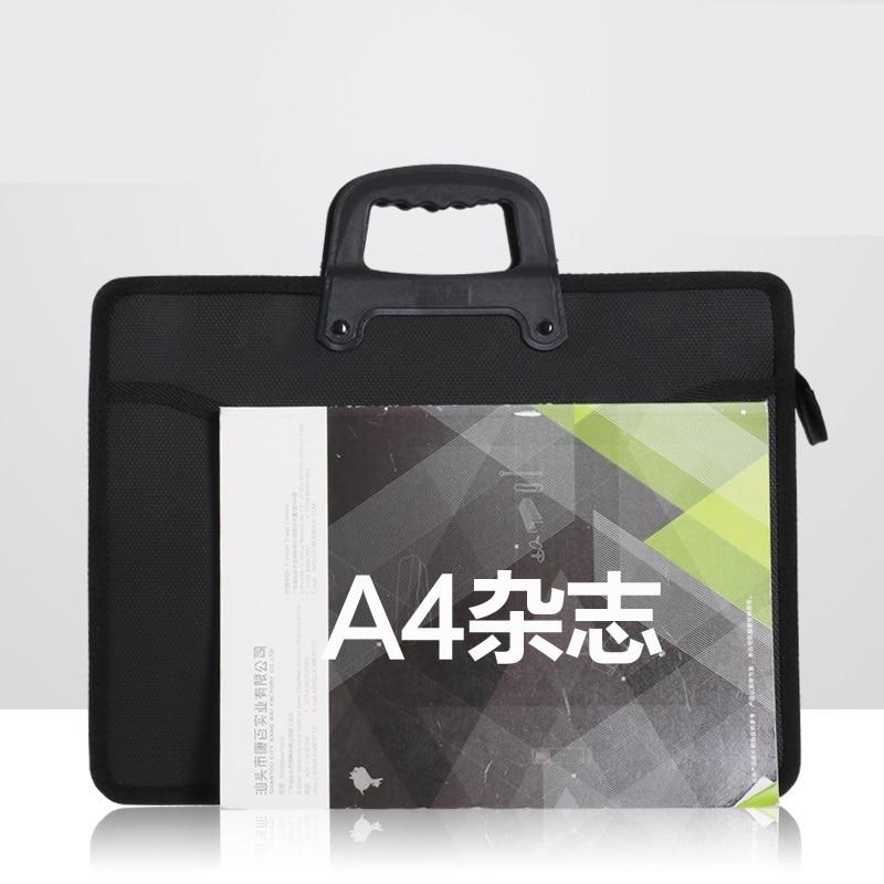 Fashion file bag portable briefcase men business office bag trend package work bag file A4 conference bag Oxford waterproof