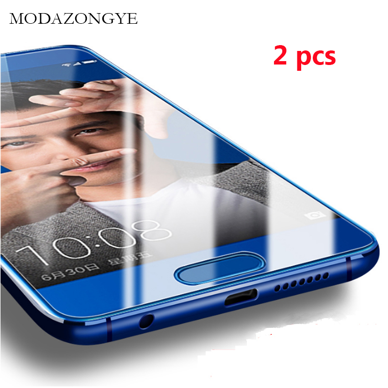 Galleria fotografica MODAZONGYE 2pcs Tempered Glass Huawei Honor 9 Screen Protector Huawei Honor 9 STF-L09 Honor9 Screen Protector Glass Full Cover