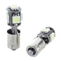 smd 5050 2x Bulb 5 LED 5050 SMD BA9S H6W T4W White Anti ODB Error code lamp (1)