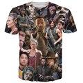 ¡ Caliente! nuevo Llega El The Walking Dead T-Shirt Rick Daryl Michonne Carl Grimes Zombies Estilo 3d Tee Camiseta Hombres de Las Mujeres de Verano