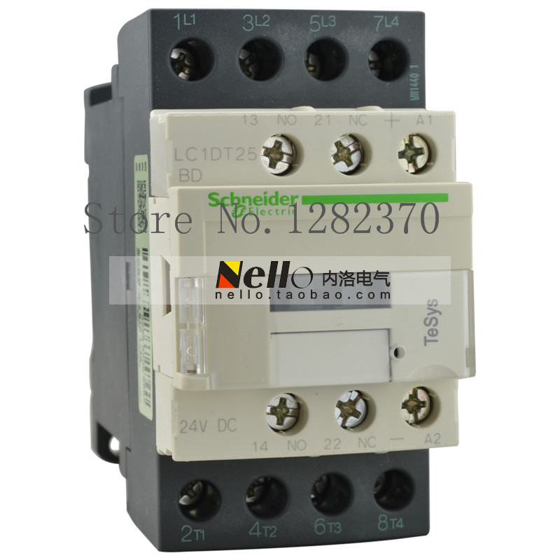 [ZOB] original genuine DC24V/110V/220V DC contactor 4-pole contactors LC1-DT25BDC/FDC/MDC 25A --2pcs/lot