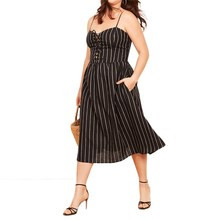 plus size western style fashion loose contrast color striped 3XL-7XL large  size overweight woman fe3c18e42483