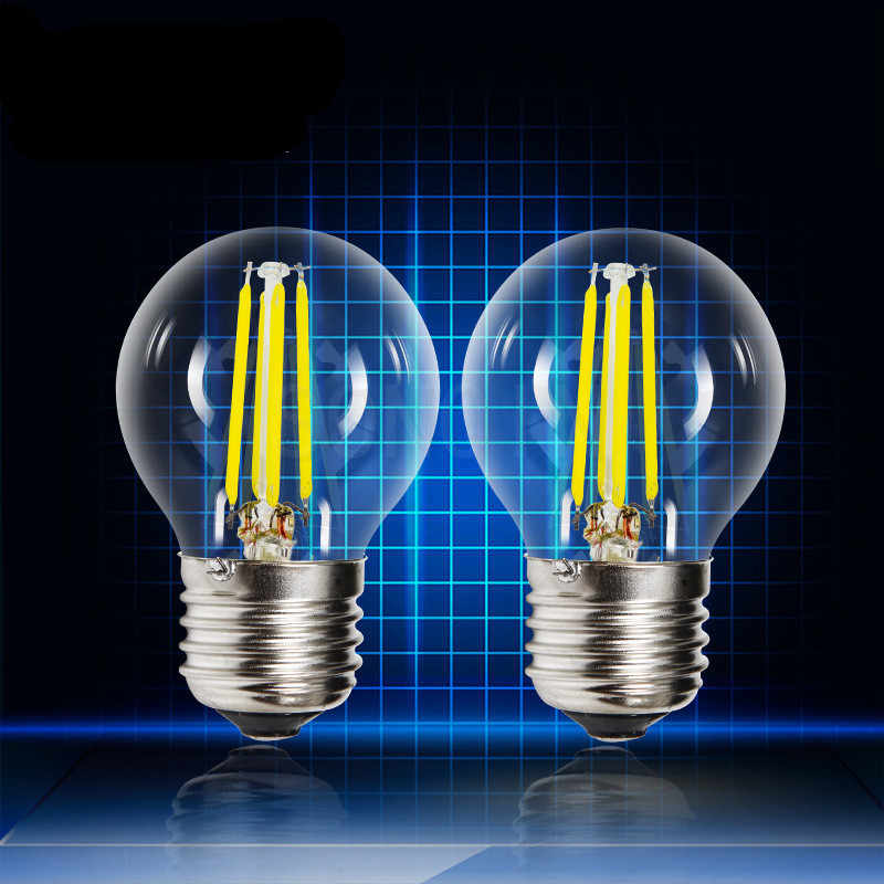6X Super Bright Led Edison Bulb E14 E27 E40 ampoule vintage Filament Light G45 Lampada 220v Led Energy Saving Lamp Lights bulb