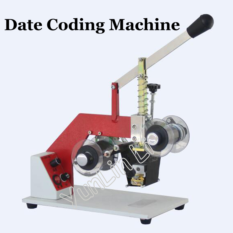 110V/220V Manual Coding Machine Date Printer Code Printer Printing Area 5cm ZY-RM5-E zonesun my 380 ink roll coding machine card printer produce date printing machine solid ink code printer painting type 220v