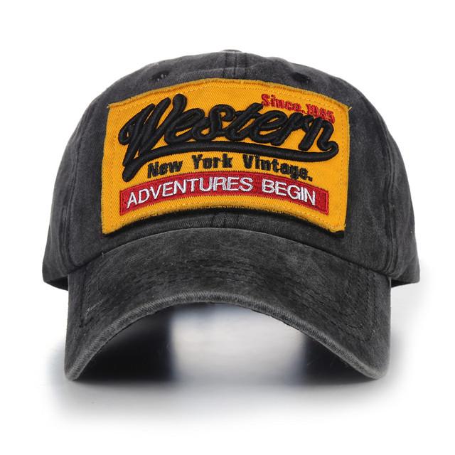 Washed Western Baseball Cap