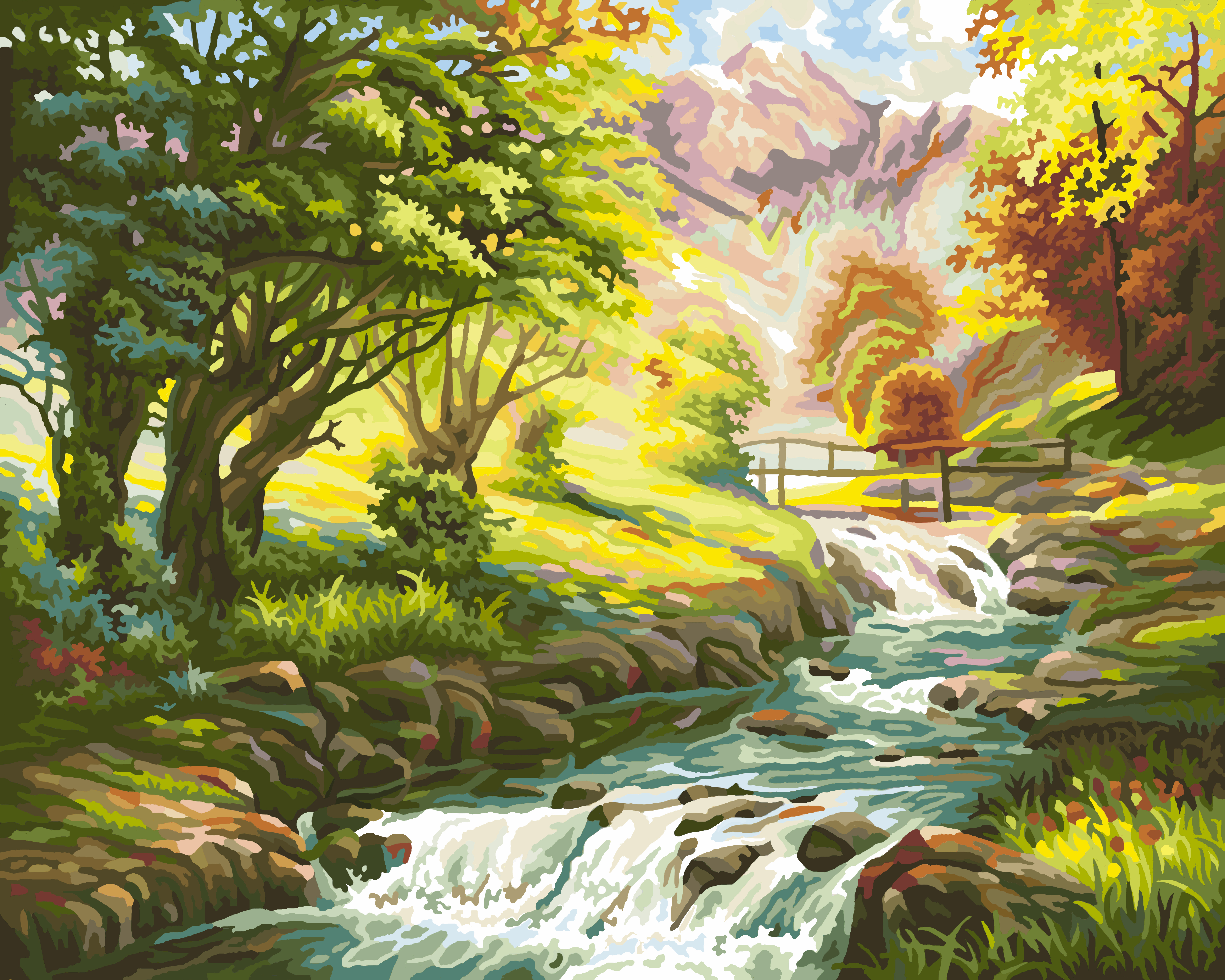 wonderland digital oil painting by numbers diy home