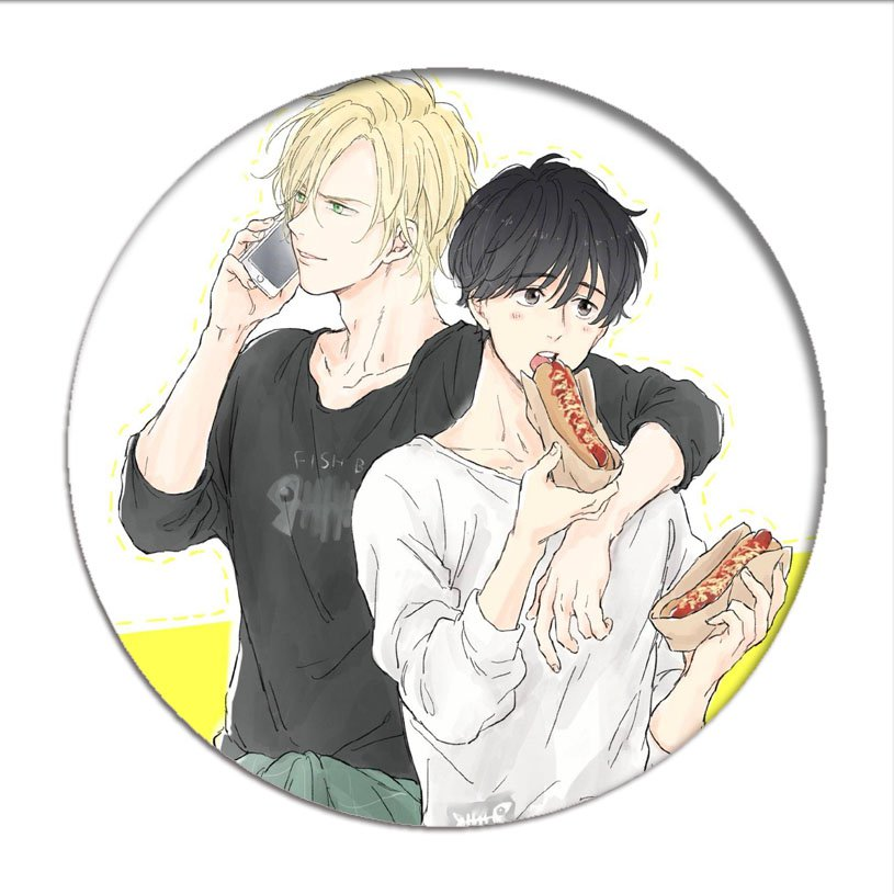 1pcs BANANA FISH Cosplay Badge Okumura Eiji Brooch Pins Ash Lynx Collection Badges for Backpacks Clothes