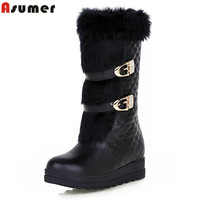 2017 Hot Sale Slip On Women Snow Ankle Boots New Arrival In Winter Height Increasing Soft