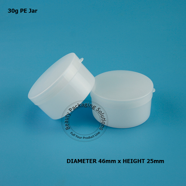 f44670ffa7f9 US $9.12 45% OFF|Wholesale 30g Cream Jar White Plastic Containers Cosmetic  Travel Containers Refillable Empty Packaging Jar 30pcs/Lot-in Refillable ...