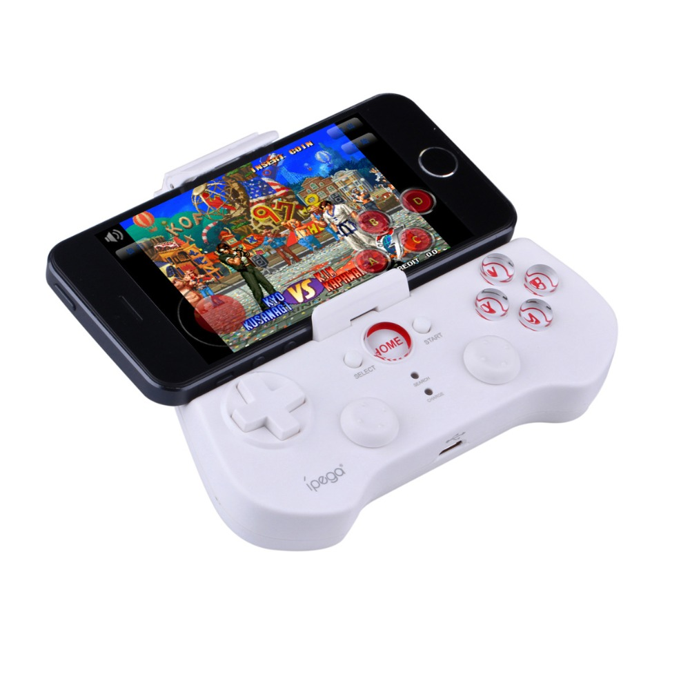White PG 9017 iPega Wireless Bluetooth Game Gaming Controller Joystick Gamepad for Android iOS Cell phone