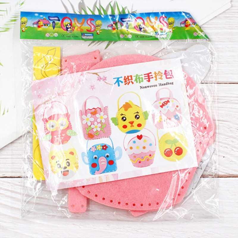 מלאכת ערכות לילדים צעצוע לא ארוג בד תיק DIY Dindergarten בעבודת יד שקיות למסיבה או הורה-ילד פעילויות צעצועים עבור ילד