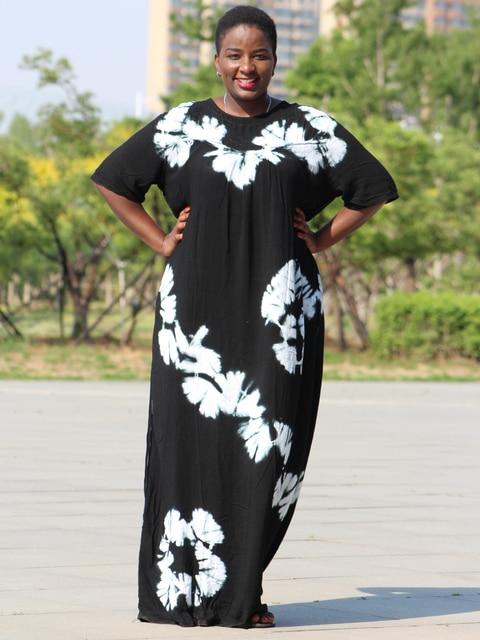 Dashikiage black cotton soft textured comfortable dress with a big scarf 4