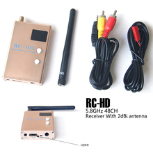 цена на FPV 5.8G 5.8GHz 48CH RC832 RC832HD RC-HD Receiver With 2dBi antenna for FPV Racing Quadcopter