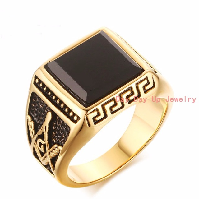 Luxury Antique Women s Mens Ring Stainless Steel Gold Rings