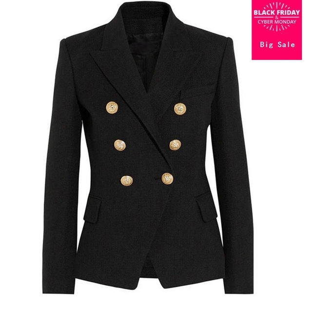 women's new model Draping gold buckle slim suit jacket same star wear 2018 spring new double-breasted causal suit jacket L492