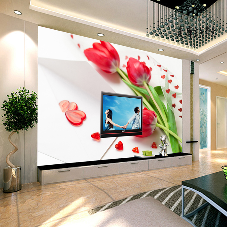 Custom Modern Fashion 3D stereoscopic large mural bedroom living room TV background wallpaper wall paper room romantic red roses 3d stereoscopic large mural custom wallpaper the living room backdrop bedroom fabric wall paper murals fashion romantic roses