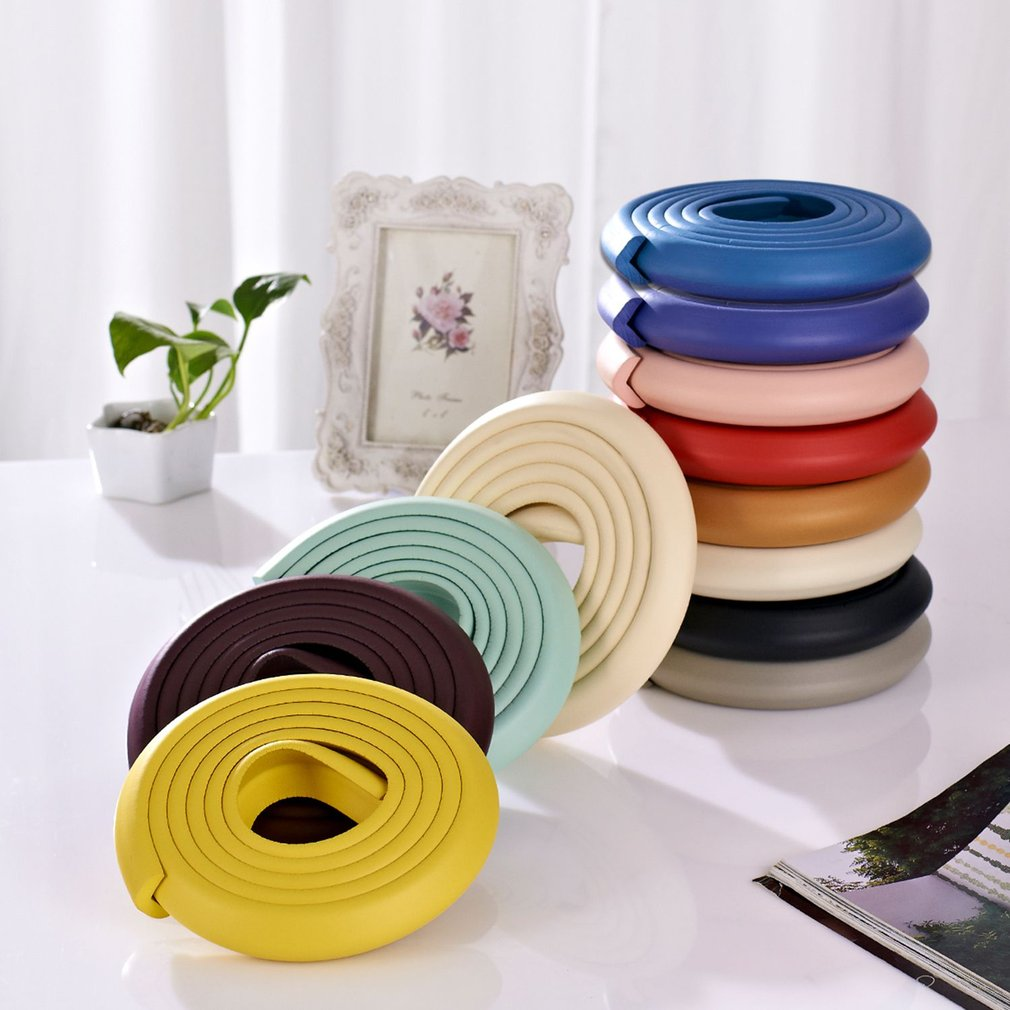 2M U-Shape Table Edge Edge Corner Protections Thick Rubber Furniture Desk Cover Protectors Foam Baby Safety Bumper Guard Strip 4pcs table desk ball corner protections soft pvc bumper protectors edge angle guard baby child kids transparent safety bead