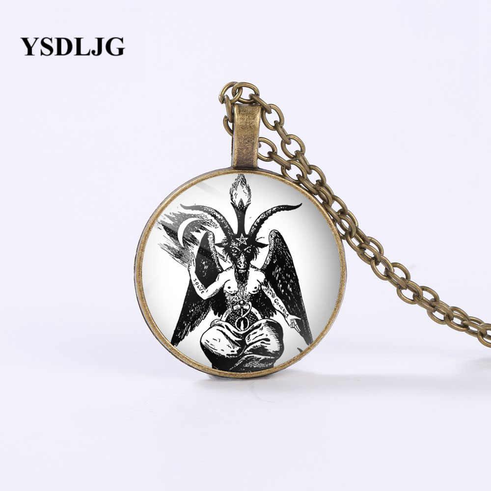 YSDLJG Esoteric สร้อยคอ-Baphomet สัญลักษณ์แพะหัว Pentagram-ลึกลับของขวัญสัญลักษณ์ Custom สร้อยคอเครื่องประดับของขวัญ