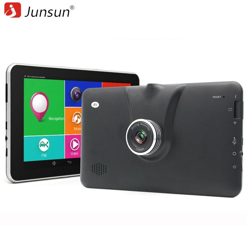 Junsun New 7 Android Auto Camera Car DVR Camera Video Recorder GPS Navigation navigator Bluetooth wifi MT8127 Quad-core sat nav free shipping original and new 8inch lcd screen bp080wx7 100 bp080wx7 for cube u27gts talk8 tablet pc 1280 800