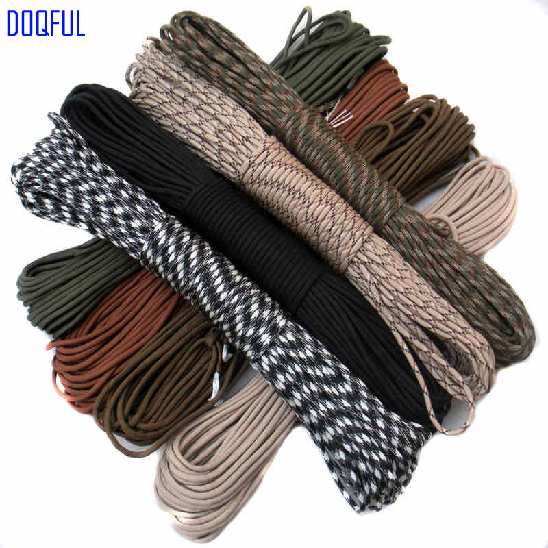 Paracord 550 Umbrella Military Rope 7 Core 100FT 31m Climbing Camping Emergency Survival Paracord Parachute Cord Self Defense 30m paracord parachute cord multifunctional 9 core lanyard rope umbrella rope camping survival equipment emergency climbing