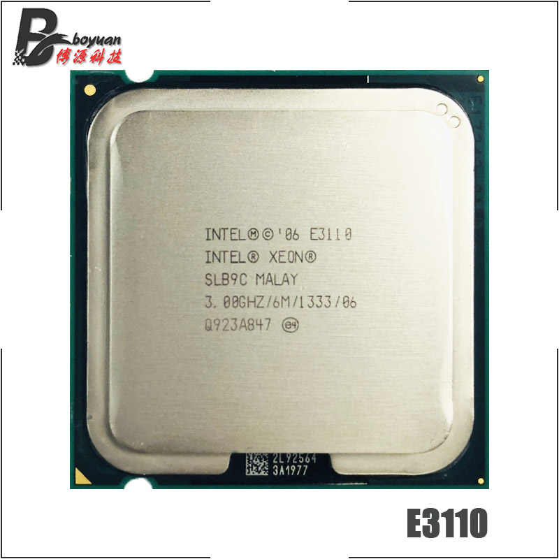 معالج وحدة المعالجة المركزية إنتل سيون E3110 3.0 جيجاهرتز ثنائي النواة 1333 L2 = 6 متر 65 واط LGA 775