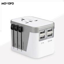 4 usb порта Высокоскоростной 3.4A зарядное устройство EU UK US Универсальный адаптер для путешествий для портов-зарядка сотовых телефонов, смарт-часов, iPhone