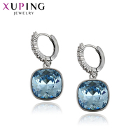 11.11 Deals Xuping New Arrived Jewelry Hoops Earrings Simple Design Round Crystals from Swarovski for Women Girls Gifts 93747